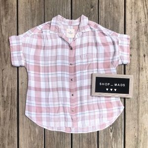 American Eagle Plaid Tee